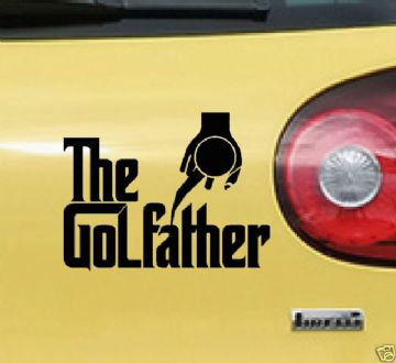 The GOLFather, shifter sticker for vw Golf mk1 mk2 mk3 GTi VR6 Mk4 mk5 R32,1.8t